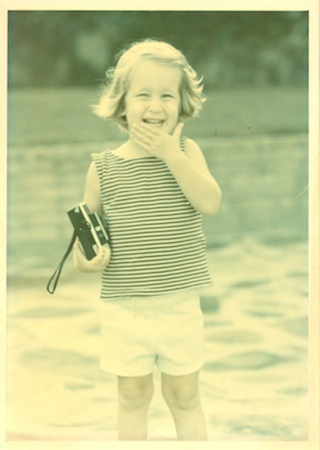 rachel as a toddler with camera