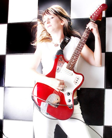 red fender jaguar guitar rachel staggs photograph by aubrey edwards