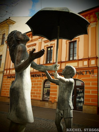 umbrella sculpture sumperk czech republic moravia