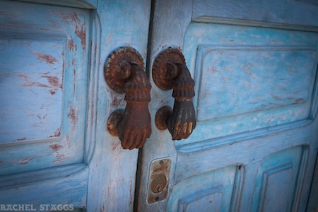 lolo lorena guestroom gourmet b&b antique door knockers europe