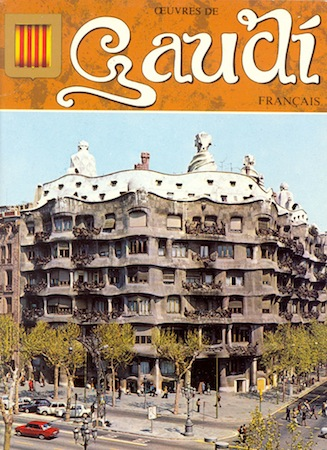 barcelona vintage gaudi guidebook in french