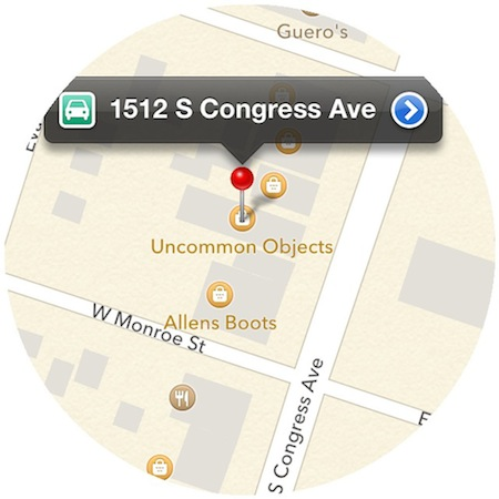uncommon objects austin texas map