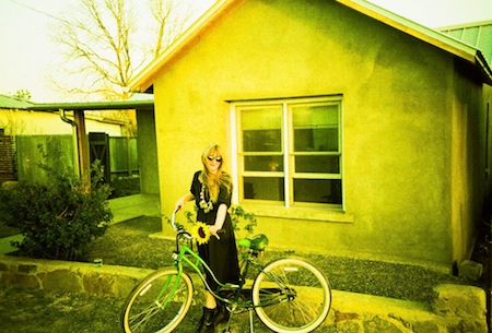 marfa texas rachel bike flower sunset big bend west