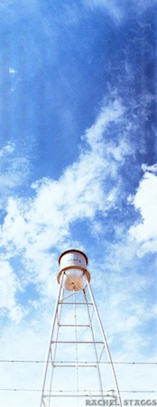 marfa water tower texas on 35mm film panoramic by rachel staggs