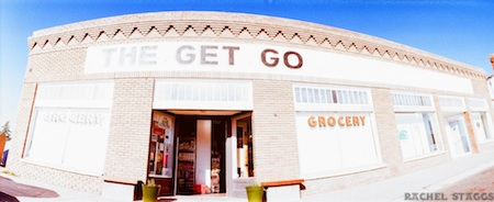 the get go marfa, texas grocery on 35mm panoramic film by rachel staggs