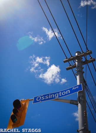 ossington avenue street sign west queen west toronto ontario canada