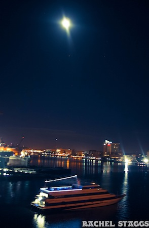 norfolk virginia marina at night