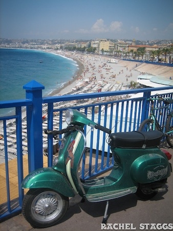 nice france mediterranean sea scooter