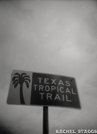 texas tropical trail sign