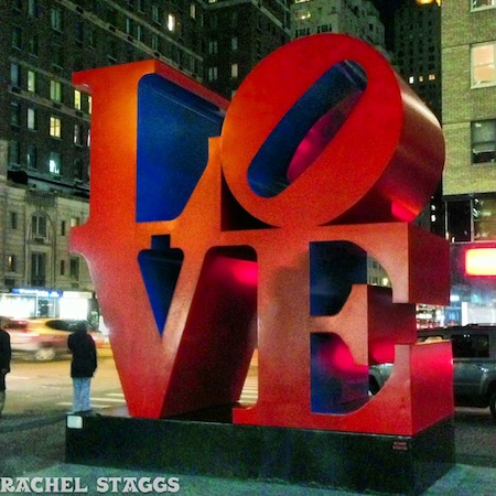 LOVE sign midtown manhattan