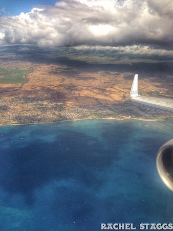 maui from the airplane