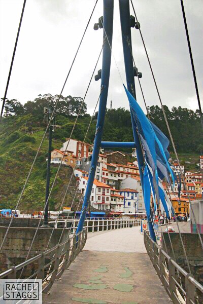 cudillero asturias spain blue bridge